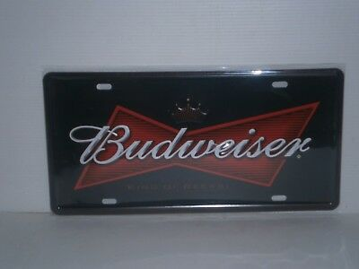 BNP1 Budweiser Metal Sign / Number Plate 15.5 cm H X 30.5 cm W New