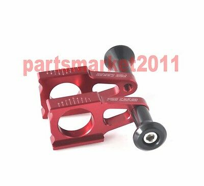 CNC Axle Blocks Chain Adjuster Spool Slider For Honda CRF250R/X CRF450R/X CR125R
