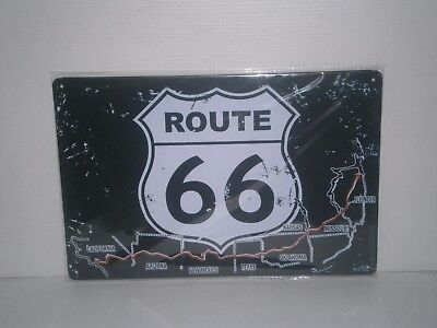 R66MS1 Route 66 Metal Sign 20 cm H X 30cm W New