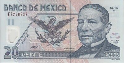 Mexico Banknote P116 20 Pesos 23.5.2003 Serie W Polymer, UNC