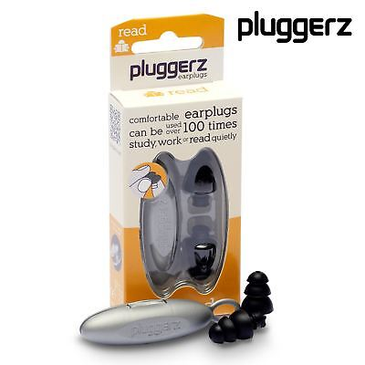 PLUGGERZ Ear Plugs for READING, Conentration, Studying, Peace & Quiet Earplugs