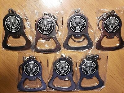 JAGERMEISTER Bottle Opener Key Chains Keychains Set of 7 New In Package XCELLENT