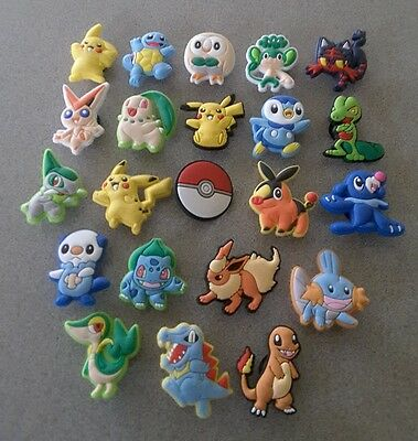 22 Pokemon themed *USA* shoe/bracelet jibbitz/jibitz charms pvc party favors