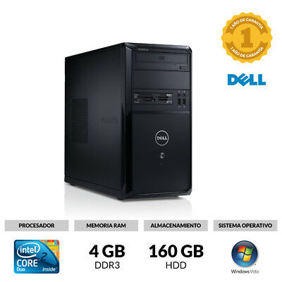 Ordenador Sobremesa Dell Vostro Core 2 Duo 2,90 Ghz 4Gb 160 Gb Dvd Windows Vista