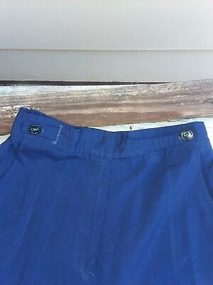 vintage 70s junior girls casual pants with bell bottoms Navy blue  size 13/14