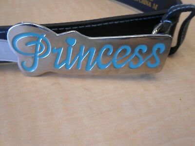 Youth Girls BELT SIZE   M   BLACK  COLOR WITH BUCKLE PRINCESS