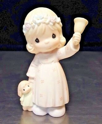 Precious Moments Nativity 529966 RING OUT THE GOOD NEWS - 1 piece - EXCELLENT