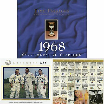 1968 Historic Event Dates Calendar  - 50th Birthday Gift and Anniversary Gift
