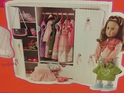 Our Generation Battat American Girl Doll Wardrobe Armoire White