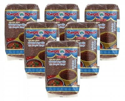 (2,90€/1kg) [6x 1kg] AROY-D Roter Reis / Thai Red Cargo Rice Extra Super Quality
