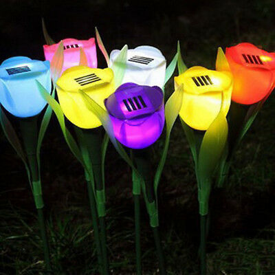 Tulip Type LED Solar Power Street Light Waterproof Solar Sensor Pathway Lamp