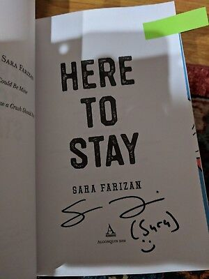 2018 ARC Here to Stay Sep 18, 2018 by Sara Farizan Y/A SIGNED