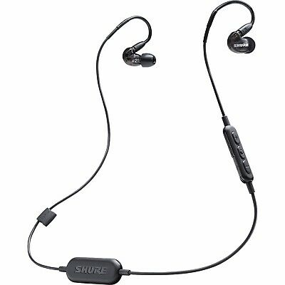 Shure Wireless SE215 Sound Isolating In-Ear Monitors w/ Bluetooth Cable - Black
