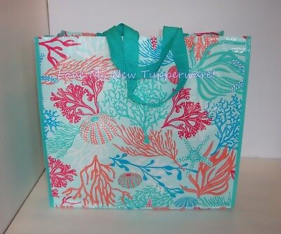 Tupperware Treasures of the Sea Reusable Shopping Tote Bag New
