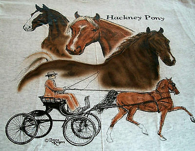 "Hackney Pony T-shirt  "" White "" Medium ( 38 ~ 40 )"