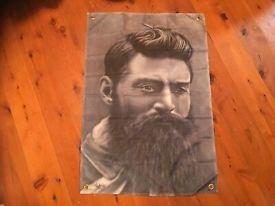 outlaw  printed poster Ned KELLY biker Man cave flag wall hanging bar garage