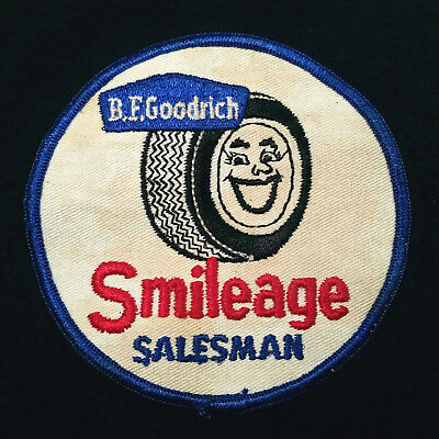 vintage B.F. Goodrich tires Smileage coveralls work shirt advertising patch