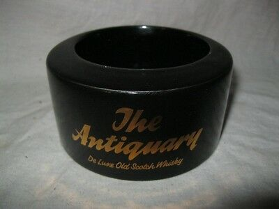 Ancien CENDRIER THE ANTIQUARY DE LUXE OLD SCOTCH WHISKY Ash Tray Ashtray Pub Bar