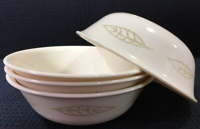 """4 CORNING WARE Corelle Textured Leaves 6.25"""" Soup Cereal Bowls 14Oz ..."""