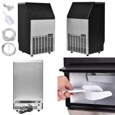Costzon Built-In Stainless Steel Commercial Ice Maker Portable Ice Machine Resta