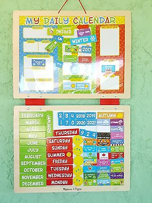 Melissa Doug My First Daily Magnetic Calendar Set Of 2