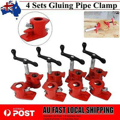 """Gluing Pipe Clamp 3/4"""" 4 Sets - Woodworking Vice Hand Tool Brand New"""