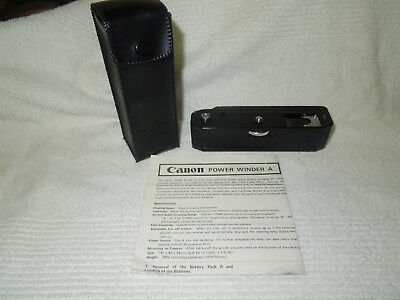 Canon power winder A w/ case for FD A1 AE-1 Program AT-1 working tested MINT