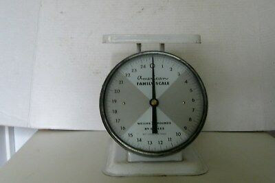 Vintage Kitchen Scale By American Family Scale 25 Lbs Glass Front