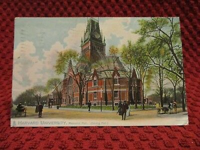 1908. Harvard University. Memorial Hall, Dining Hall. Postcard.