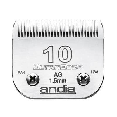 """Andis UltraEdge Detachable Blade, Size 10 - Leaves 1.5mm or 1/16"""" Fits AGC/AGR+"""