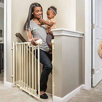 Evenflo Easy Walk Thru Top Of Stairs Gate Removable Swing Stop One-Hand Release