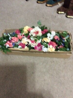 Home Interior / Homco Set Of 2 Multi Color Flower Swags New In Box