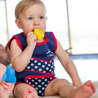 New Konfidence Babywarma Wetsuits - 0-6 Months Navy Dot Free Express Shipping