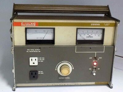 Rare Staco E1010Va Ultimate 1250W Variac Power Supply With Volt And Amp Meters