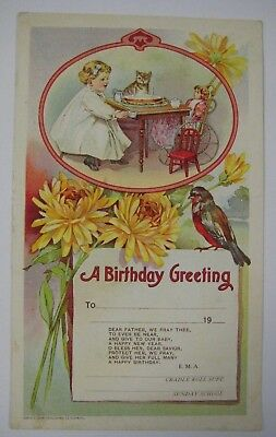 Antique Greeting Card Birthday From