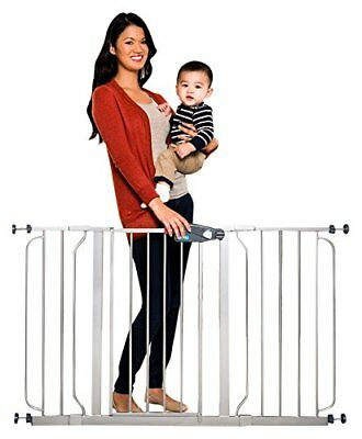 Regalo Easy Step 51 Inch Extra Wide, Platinum Child Proof Protector Baby Gate
