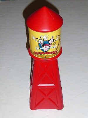 vtg ANIMANIACS red plastic coin BANK funny cartoon toy 1990's 1994 fast ship