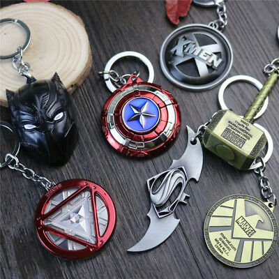 Lot Marvel DC Comics Keychain Cosplay Superhero Jewelry Keyring Pendant Gift