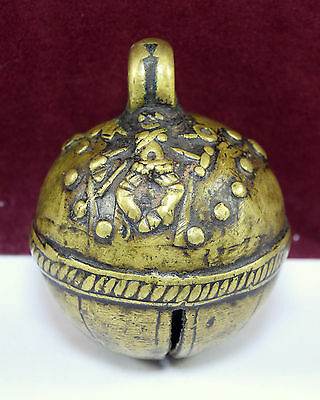 Vintage Indian Traditional Religious Hand Crafted Bell Nice Collectible. G70-112