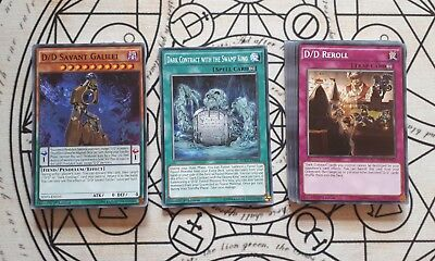 yugioh d/d/d deck complete ready for play