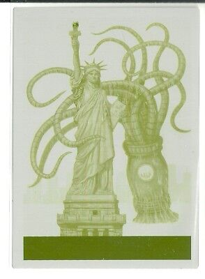 2017 Topps Mars Attacks The Revenge Printing Plate #28 Liberty None #ed 1 of 1