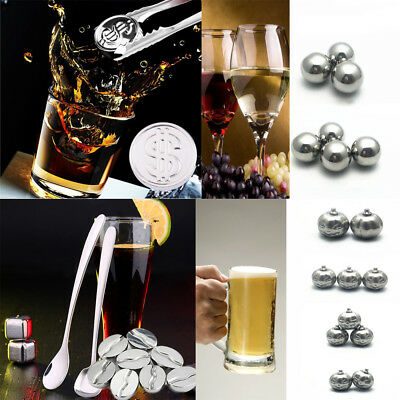 Ice Cubes Chilling Stones Stainless Steel Wine Drinks Cooling Whisky Cooler