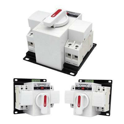 1Pcs New 63A 2P 50HZ/60HZ Dual Power Automatic Transfer Switch 150×137×118mm