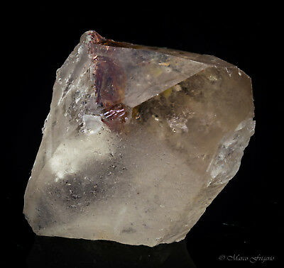 Clear Bi Terminated Smoky Quartz Crystal + Rutile M.G Brazil 53x41x26mm 49.5gr