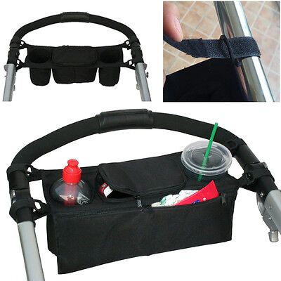 Baby STROLLER Organizer PARENT Console Double Cup Holder Buggy Jogger-P