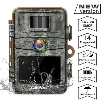 Campark Trail Camera 14MP 1080P Infrared Night Vision Waterproof Cam Hunting Cam