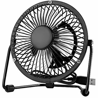 "4"" Inch Portable Usb Fan Mini Black Cooling Desk Fans For Home Office Pc Laptop"