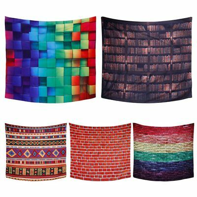 3D Colorful Mandala Geometric Tapestry Hippie Wall Hanging Bedspread Home Decor