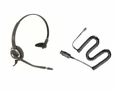 iServ 031NC Noise Cancelling Wired Headset With QD Cord DECT GAP compatible