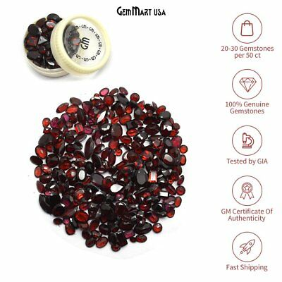 1000 Carats Garnet Faceted Natural Gemstone Mixed Shape Wholesale Loose Gems Lot